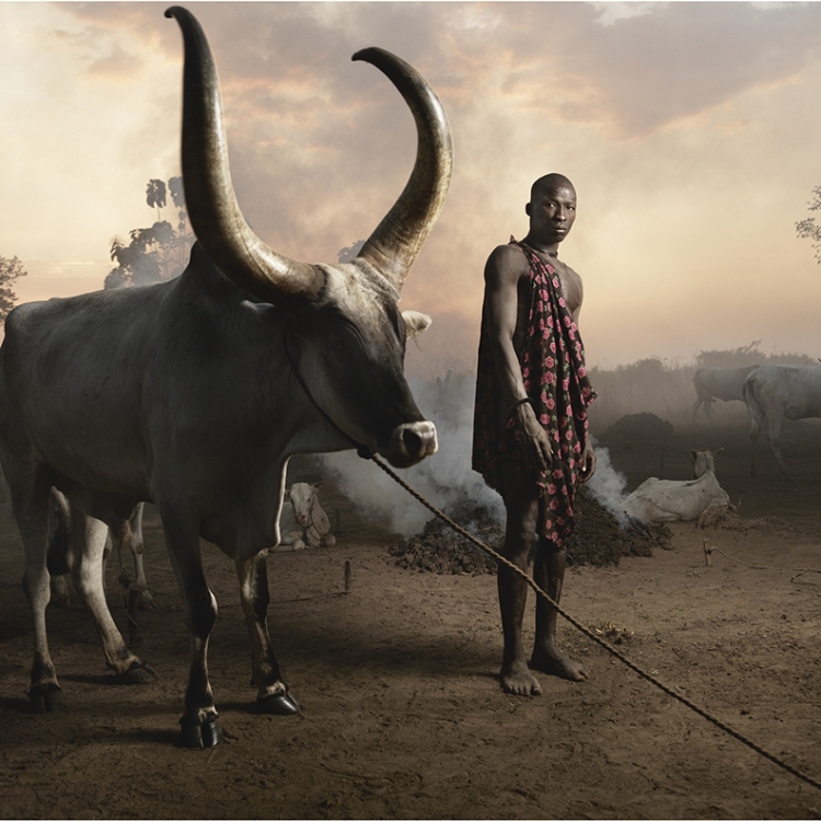 © Money People Politics by Marco Grob, to be published by teNeues in September 2016, www.teneues.com, Mundari man, Cattle camp near Juba, South Sudan, 2013, Photo © 2016 Marco Grob. All rights reserved.