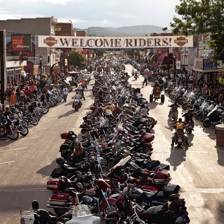 Mainroad at Sturgis Motorcycle Rally, USA, Photo © Harley-Davidson