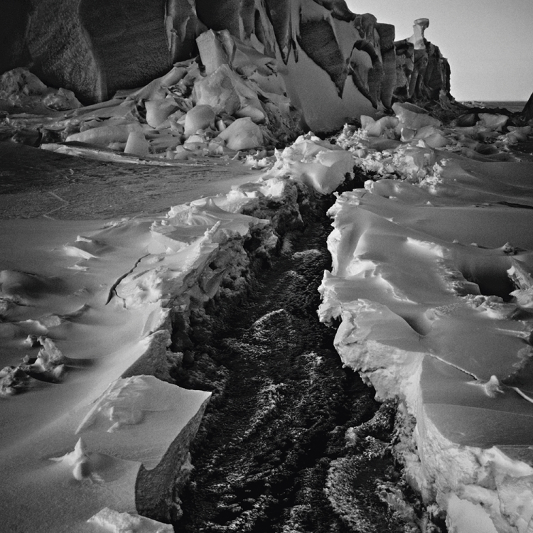 Floe landscape with icebergs, Baffin Island Canada, 2016 Photo © Laurent Baheux