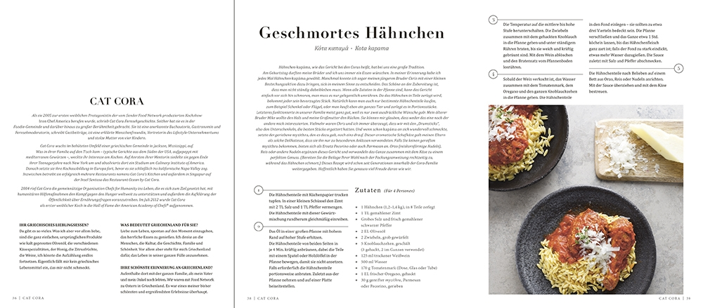 © Zu Gast in Griechenland - Rezepte, Küche & Kultur von Prinzessin Tatiana von Griechenland & Diana Farr Louis, erschienen bei teNeues, € 19,90, www.teneues.com, www.boroume.gr, www.tatianablatnik.com. Geschmortes Hähnchen, Rezept Cat Cora, Photo © Antonios Mitsopoulos. All rights reserved.