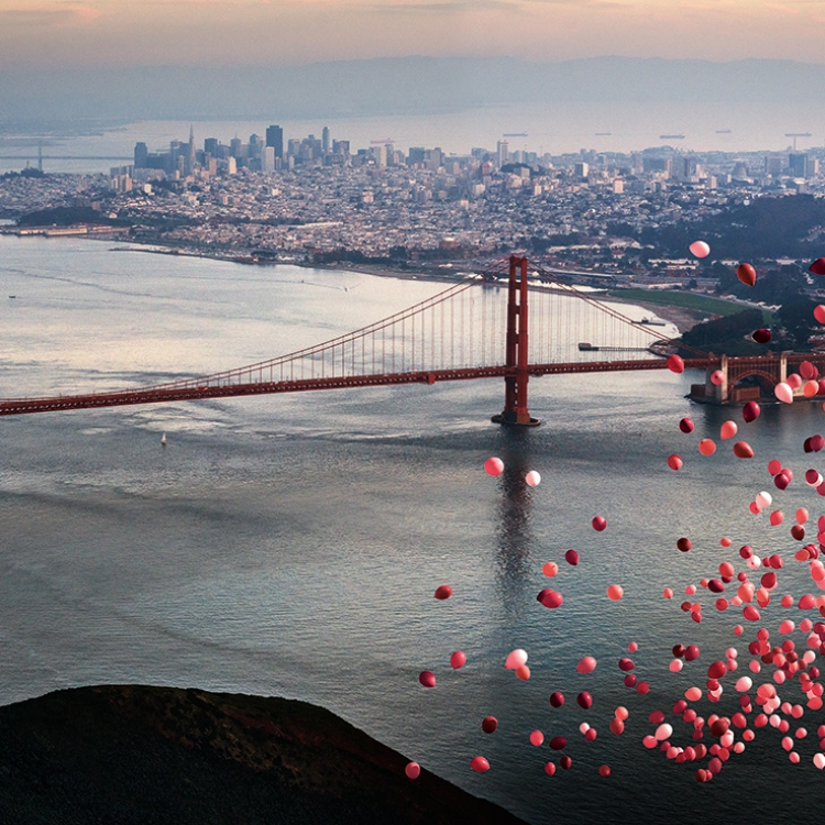 BALLONS OVER SAN FRANCISCO, 2016, Photo © 2016 David Drebin. All rights reserved. www.daviddrebin.com