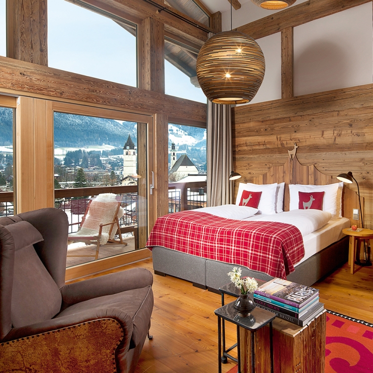 © EIGHTY FOUR ROOMS - A UNIQUE COLLECTION OF THE MOST STYLISH & INDIVIDUAL BOUTIQUE HOTELS - ALPINE EDITION, to be published by teNeues in November 2016, € 49,90, www.teneues.com. Kitzhof Mountain Design Resort, Kitzbühel, Austria, Photo © 2016 Sebastian Schöllgen. EIGHTY FOUR ROOMS GbR. www.eightyfourrooms.com