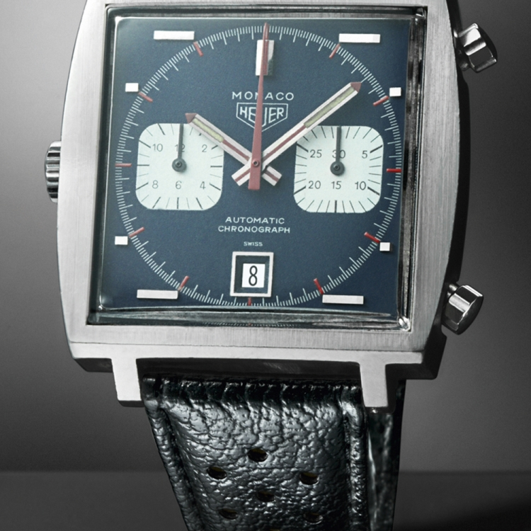 © The Watch Book II by Gisbert L. Brunner, to be published by teNeues in September 2016, € 49,90, - www.teneues.com. Original Monaco, 1969, TAG Heuer, Photo © TAG Heuer