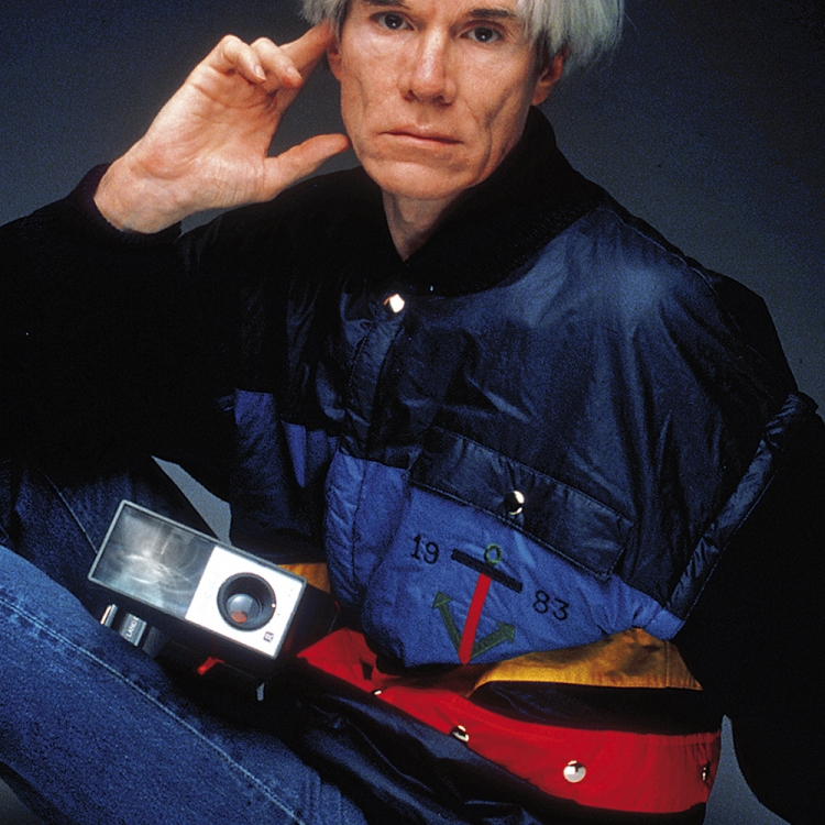 © Jean-Charles de Castelbajac - Fashion, Art & Rock'n'Roll, to be published by teNeues and YellowKorner in September 2016, www.teneues.com, www.yellowkorner.com, Andy Warhol, Les Contemporains II advertising campaign for Iceberg, Photo © Oliviero Toscani