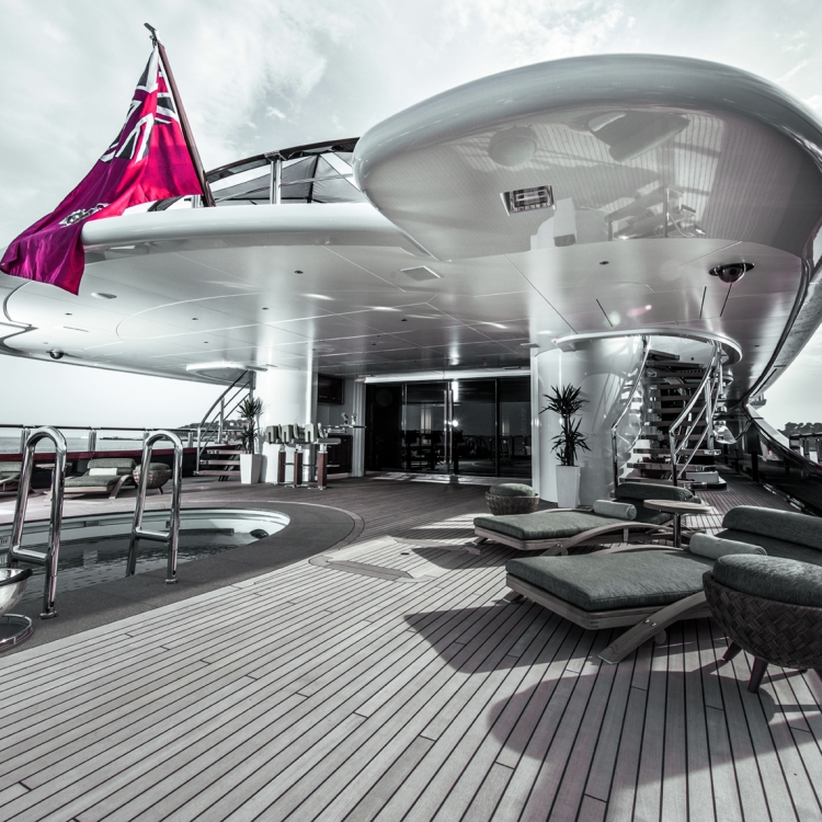 © The Superyacht Book edited by Tony Harris, to be published by teNeues in October 2016, www.teneues.com. NIRVANA, Photo © Luxury Vision Production