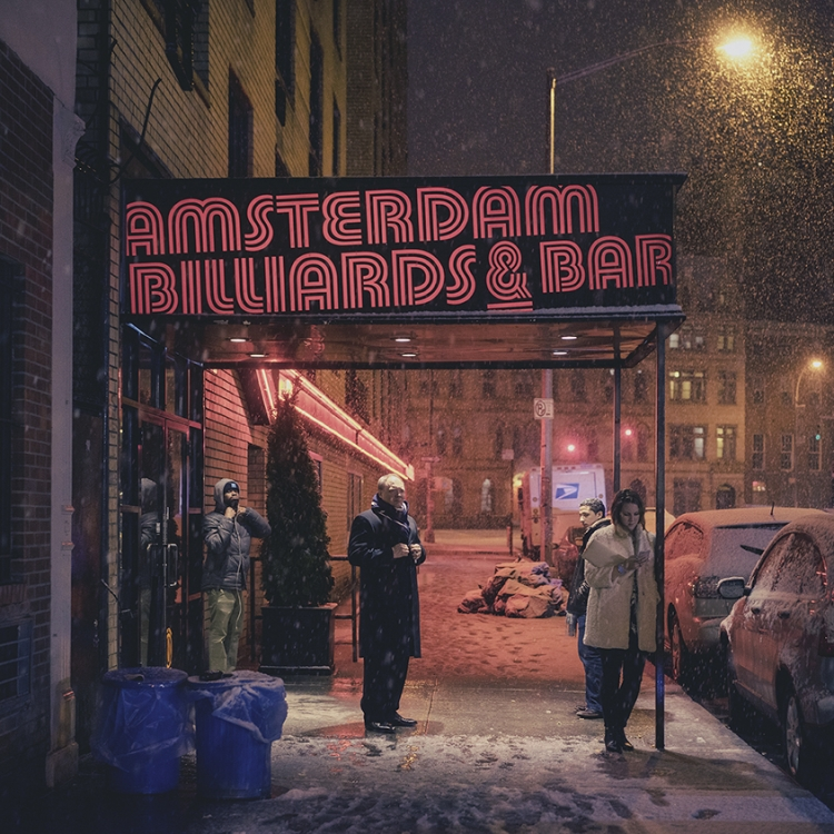 © Light On New City by Franck Bohbot, to be published by teNeues and YellowKorner in August 2016, € 49,90 - www.teneues.com, www.yellowkorner.com. Amsterdam Billiards & Bar #1, East Village, Manhattan, 2015, Photo © 2016 Franck Bohbot/INSTITUTE. All rights reserved. www.instituteartist.com