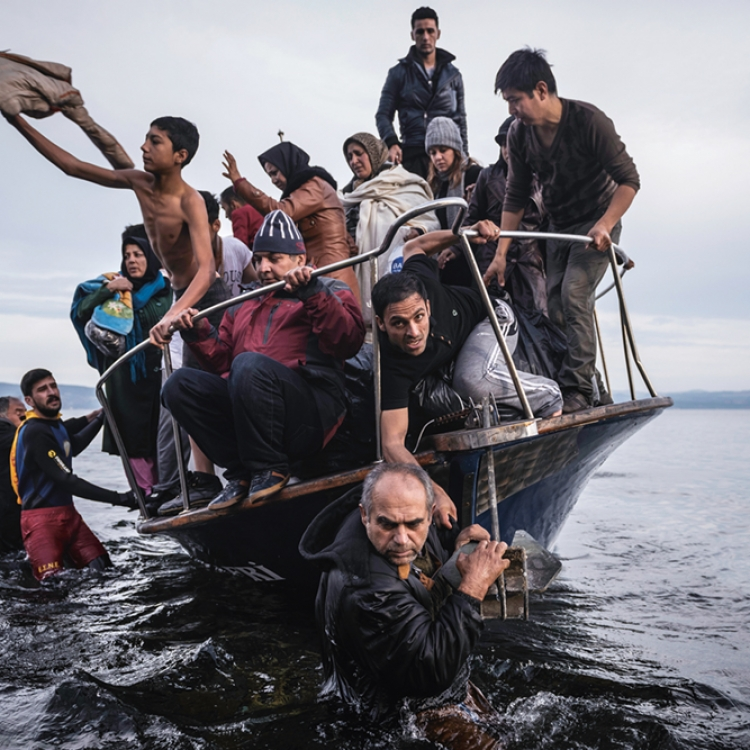 Sergey Ponomarev nominated for his series Europe Migration Crisis, 2015 © Sergey Ponomarev, Prix Pictet 2017