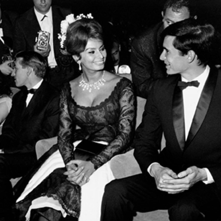 The Sophia Loren and Anthony Perkins at a Gala Evening, Cannes Film Festival l961 Photo © edwardquinn.com