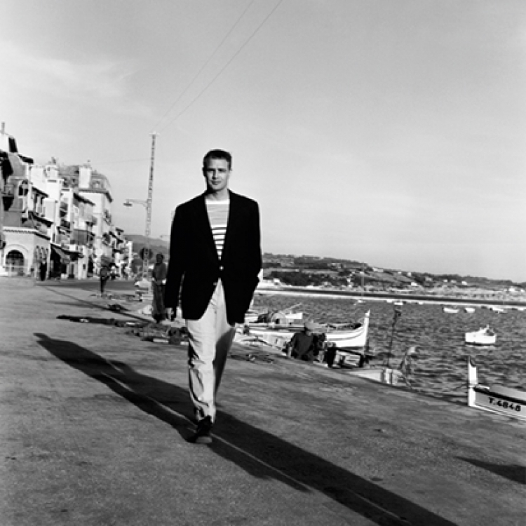 In 1954 Marlon Brando came to Bandol, a small town near Toulon, to visit his fiancée Josanne Mariani-Bérenger, daughter of a fisherman Photo © edwardquinn.com