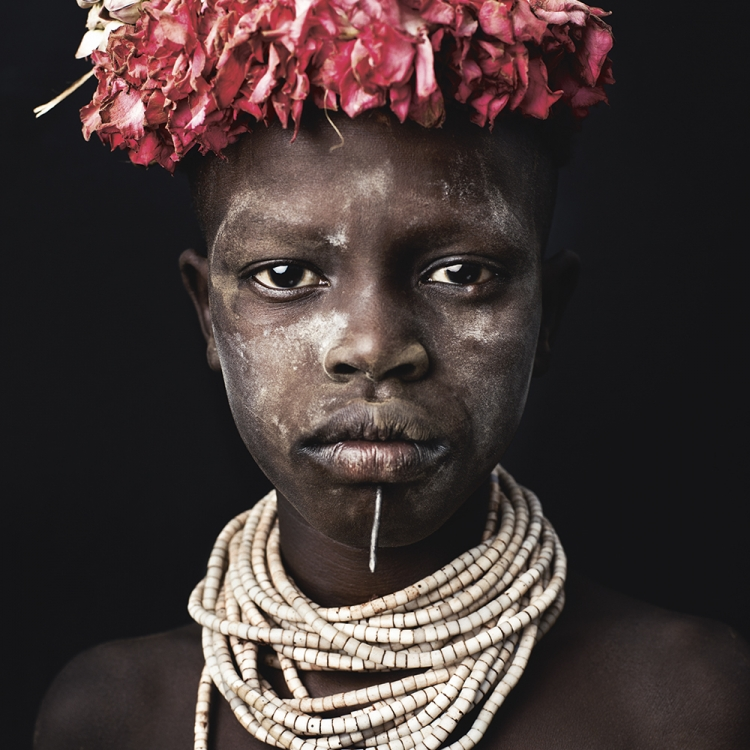 © Money People Politics by Marco Grob, to be published by teNeues in September 2016, www.teneues.com, SIRO KIERIE, Young Karo Tribeswoman, Improvised studio, Omo Valley, Ethiopia, 2014, Photo © 2016 Marco Grob. All rights reserved.