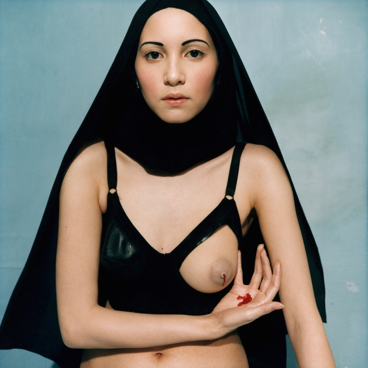 Bettina Rheims, Le lait miraculeux de la Vierge, from the series I.N.R.I., Ville Evrard, March 1997 Photo © Bettina Rheims, courtesy Galerie Xippas.