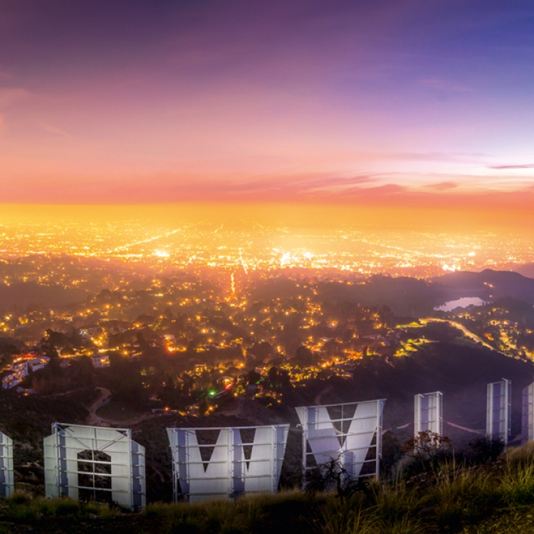 Hollywood sign from the back. I love this location because it gives you this incredible view that includes the Hollywood reservoir on the right, Photo © 2018 Serge Ramelli. All rights reserved. www.photoserge.com