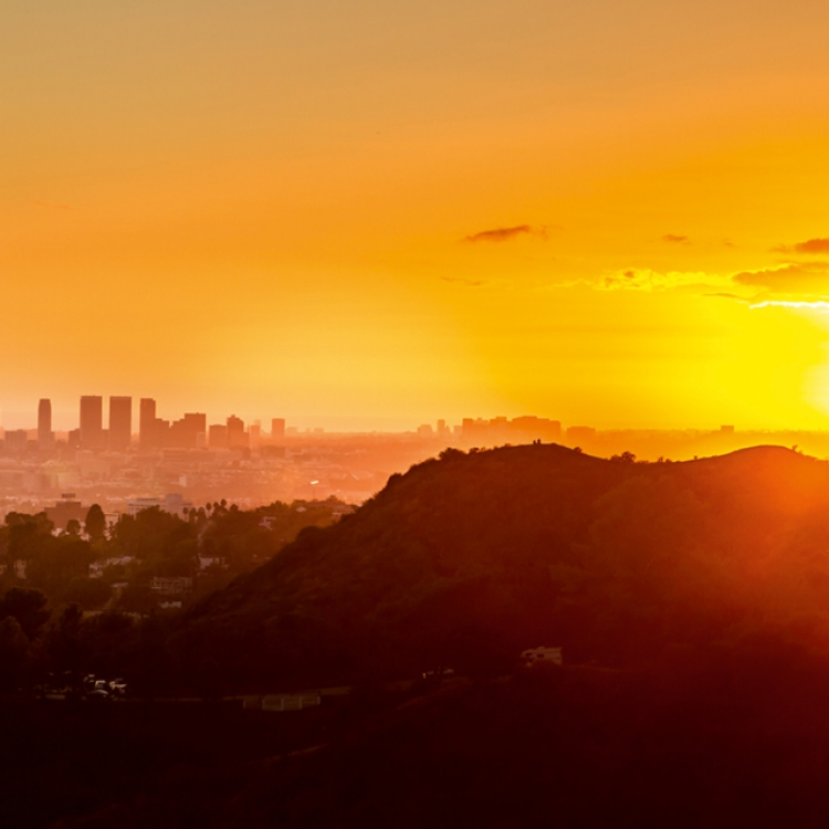 This was the first LA sunset that I shot. This photo was taken from Griffith Park., Photo © 2018 Serge Ramelli. All rights reserved. www.photoserge.com