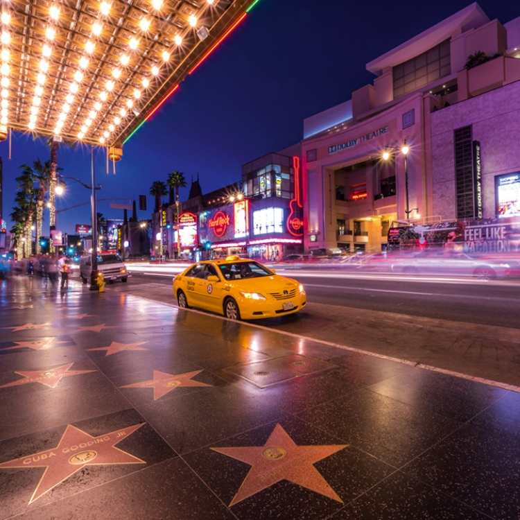 The Walk of Fame and the Dolby Theater, Photo © 2018 Serge Ramelli. All rights reserved. www.photoserge.com