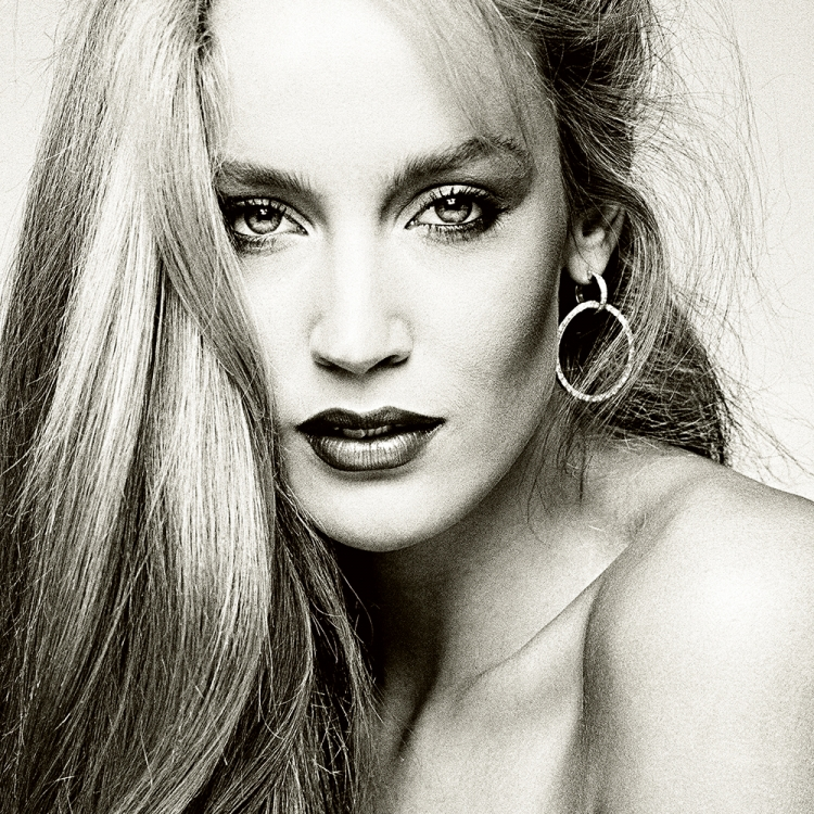 Jerry Hall, 1975, Los Angeles, Photo © Greg Gorman Photography, 2020. www.gormanphotography.com