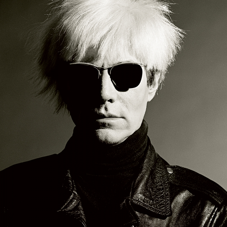 Andy Warhol, 1986, Los Angeles, Photo © Greg Gorman Photography, 2020. www.gormanphotography.com